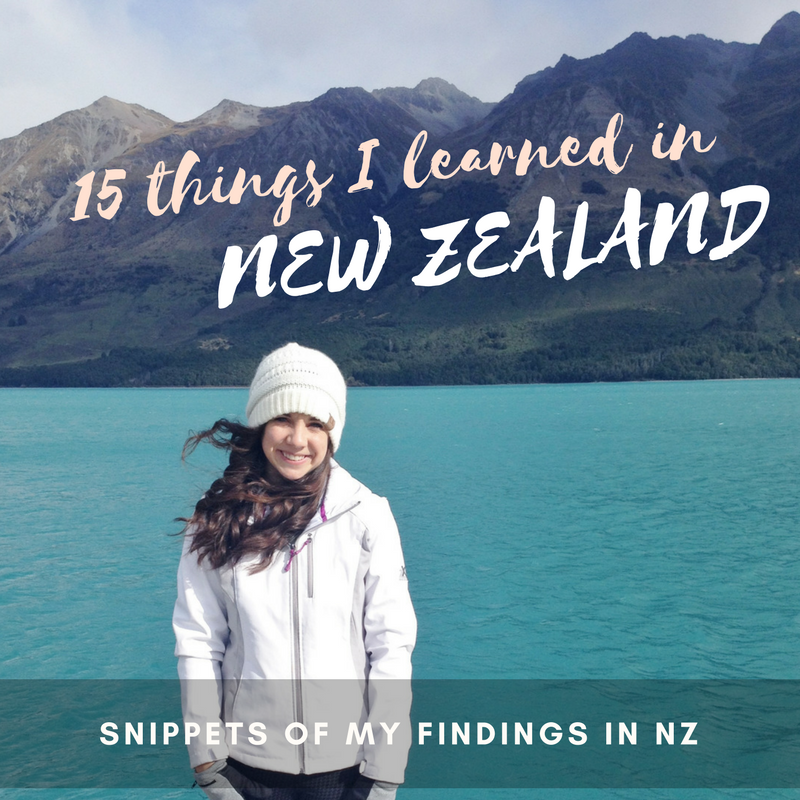 15 things I learned in New Zealand