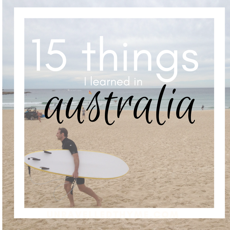 15 things I learned in Australia